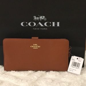 Coach Pebble Leather Sandal Lg Wallet Clutch 🎁NWT